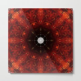 Festive Window Mandala Abstract Design Metal Print
