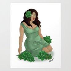 Green Succulents Art Print