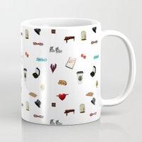 klaine Mugs featuring Pattern of Klaine things by Jen K