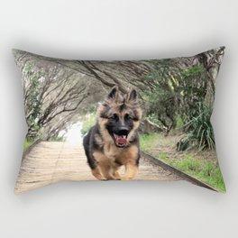 Fluffy Puppy Love Rectangular Pillow
