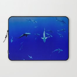 Swarm of Sharks (Color) Laptop Sleeve