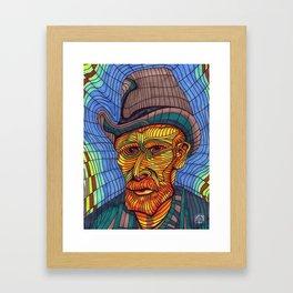 VINCENT VAN GOGH PORTRAIT Framed Art Print