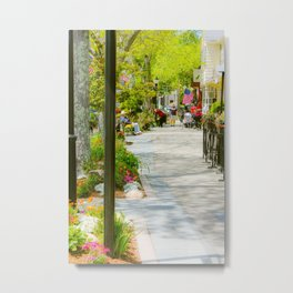 Summer view of Main Street, Falmouth on Cape Cod Metal Print