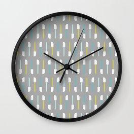 Spatula on Gray Wall Clock