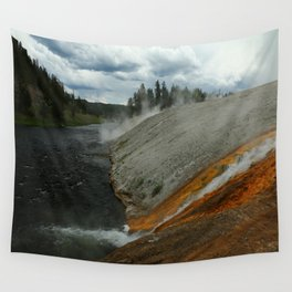 Thermal Geyser Runoff Into Firehole River Wall Tapestry