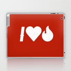 I Love Fire Laptop & iPad Skin