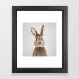 Rabbit - Colorful Framed Art Print