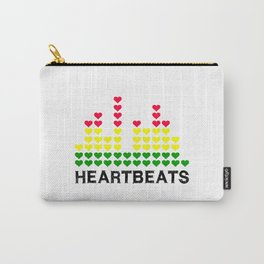 HeartBeats (black) Carry-All Pouch
