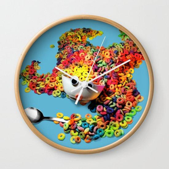 Clumsy Mornings Wall Clock
