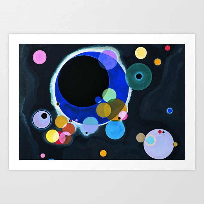 Several Circles Wassily Kandinsky 1926 Art Print By Colorfuldesigns
