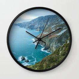 Sea Cliffs of Slieve League Wall Clock