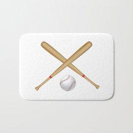 Baseball Bat and Ball Bath Mat