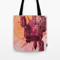 the lights Tote Bags featuring Lights by Manfish Inc.