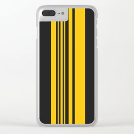 Yellow stripes on black Clear iPhone Case