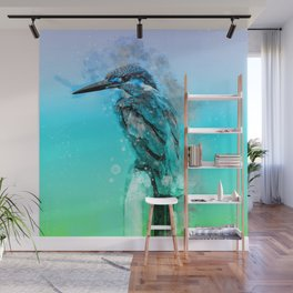The colorful life of a King Fisher Wall Mural
