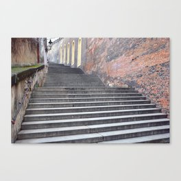 Steps, Prague Castle. Canvas Print