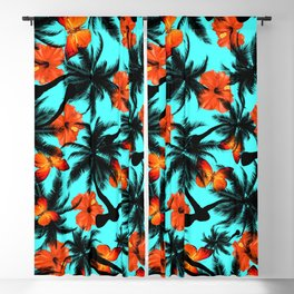 tropical pattern Blackout Curtain
