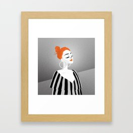 RED HAIRED GIRL Framed Art Print