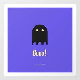 Booo! Art Print