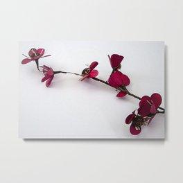 Dainty Red Single Stem Metal Print