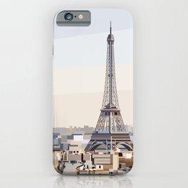 Geometric Eiffel Tower, Paris France iPhone Case