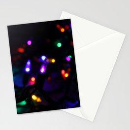 Purple Christmas Light Stationery Cards