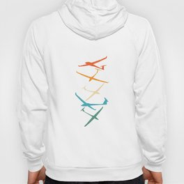 Gliders | Glider Pilot Thermals Soaring Soar Gifts Hoody