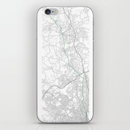 Boston marathon route in green iPhone Skin