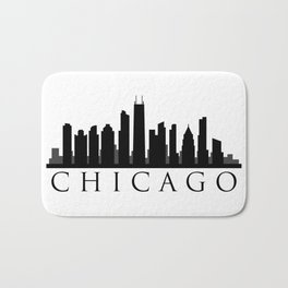 chicago skyline Bath Mat
