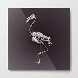 Flamingo Skeleton: Bird Halloween Animal Anatomy Metal Print
