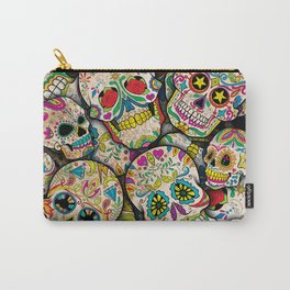 Sugar Skull Collage Carry-All Pouch