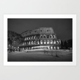 Colosseum at Night Art Print