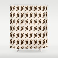 squirrel Shower Curtains featuring Squirrel by Heaven7