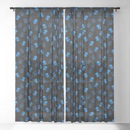 Aliens-Blue Sheer Curtain