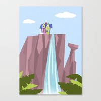 pixar Canvas Prints featuring Pixar/Disney Up (Print 1) by Teacuppiranha