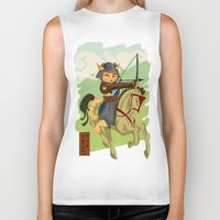 archer Biker Tanks featuring The Archer by Ginger Breo
