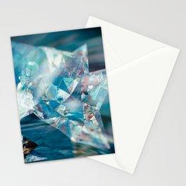 Aqua Crystal Stationery Cards