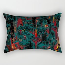 Night city glow cartoon Rectangular Pillow