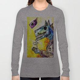 strange horses giving friendship Long Sleeve T-shirt