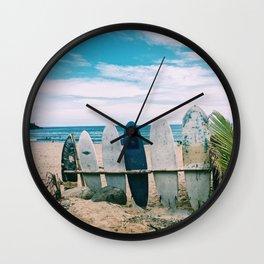 Surfs Up Wall Clock