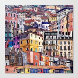 City Structures Collage Canvas Print