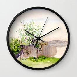 Egon Schiele - Garden with tree (new editing) Wall Clock