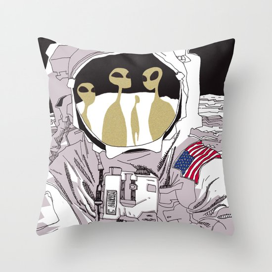 Meet Buzz Aldrin Throw Pillow