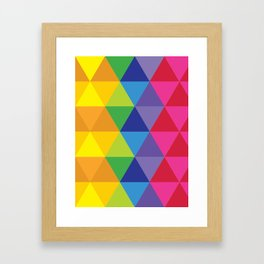 Rainbow Cosmic Universe Framed Art Print