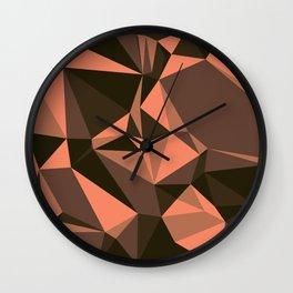 Cola, Very Dark Brown, Copper, Sante Fe, Triangles Wall Clock