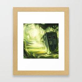Tardis In The Swamp Framed Art Print