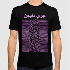 Joy Division In Arabic & pink  LARGE Black Mens Fitted Tee
