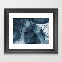 blue leaf III Framed Art Print