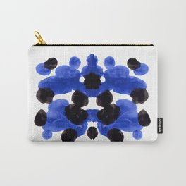Periwinkle Purple Blue And Black Ink Blot Diagram Carry-All Pouch