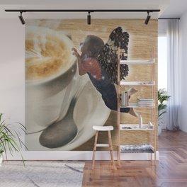Coffee Fairy Wall Mural